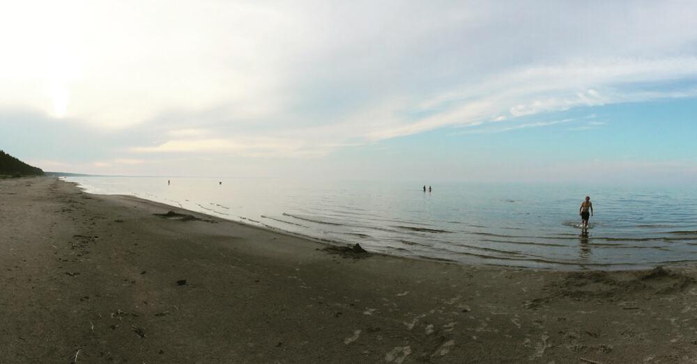 Swiming in Latvia